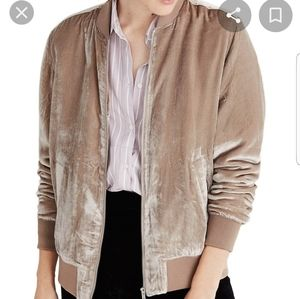 NWT Madewell velvet bomber jacket Medium